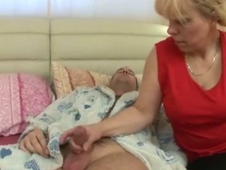 Granny starts with some sucking
